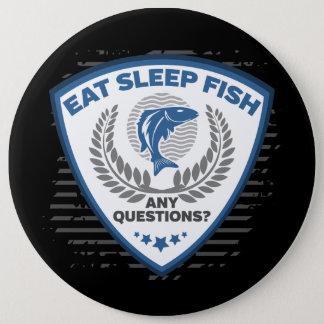 Bóton Redondo 15.24cm Coma peixes do sono toda a pesca das perguntas