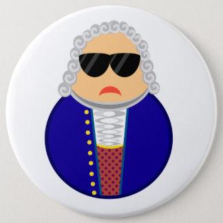 Bóton Redondo 15.24cm Compositor engraçado de Johann Sebastian Bach