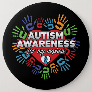 Bóton Redondo 15.24cm Consciência do autismo para meu sobrinho