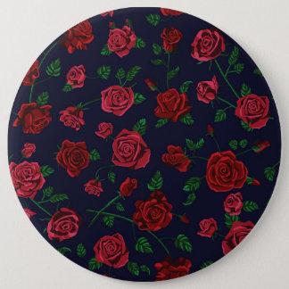 Bóton Redondo 15.24cm Crachá vermelho e cor-de-rosa dos rosas