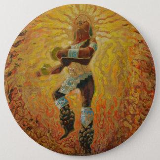 Bóton Redondo 15.24cm Dançarino do fogo de Chicemeca - botão de surpresa