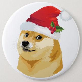 Bóton Redondo 15.24cm Doge do Natal - doge do papai noel - cão do Natal