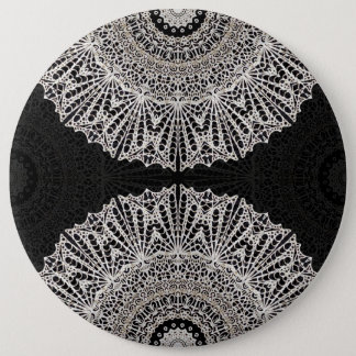 Bóton Redondo 15.24cm Estilo G384 de Mehndi da mandala do botão