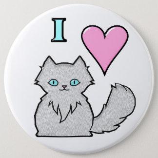 Bóton Redondo 15.24cm Eu amo gatinhos brancos macios
