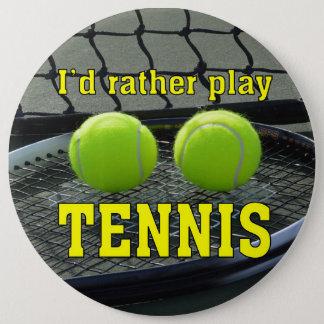 Bóton Redondo 15.24cm Eu tênis do jogo da preferencialmente
