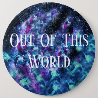 Bóton Redondo 15.24cm Fora deste botão do mundo