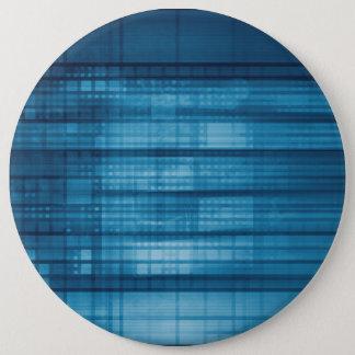 Bóton Redondo 15.24cm Fundo do mosaico da tecnologia como uma arte do