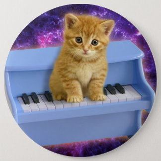 Bóton Redondo 15.24cm Gato do piano