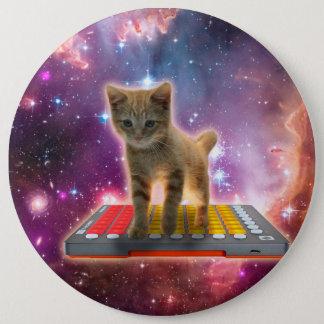 Bóton Redondo 15.24cm gato do teclado - gato de gato malhado - gatinho