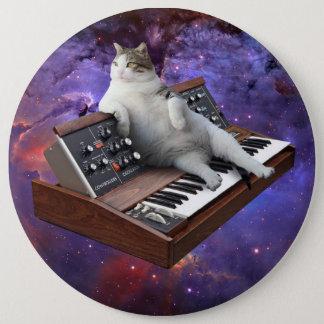 Bóton Redondo 15.24cm gato do teclado - memes do gato - gato louco