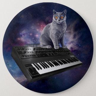 Bóton Redondo 15.24cm gato do teclado - música do gato - espace o gato
