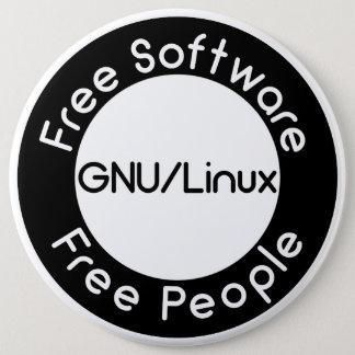 Bóton Redondo 15.24cm GNU/Linux