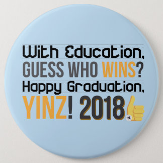 Bóton Redondo 15.24cm Graduações felizes, Yinz! Pin mega