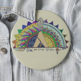Bóton Redondo 15.24cm Impressão para fora com meu do tribo arco-íris