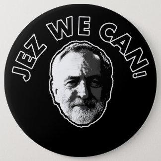 "Bóton Redondo 15.24cm Jeremy Corbyn ""Jez nós podemos"" enegrecer o crachá"