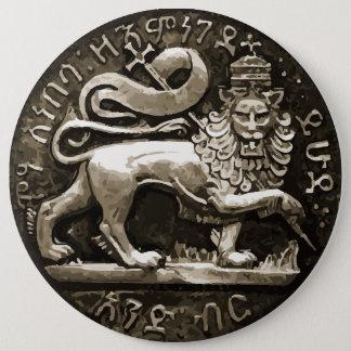 Bóton Redondo 15.24cm Leão de Rasta do design antigo de Judah no botão