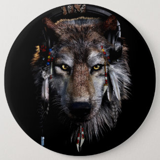 Bóton Redondo 15.24cm Lobo indiano - lobo cinzento