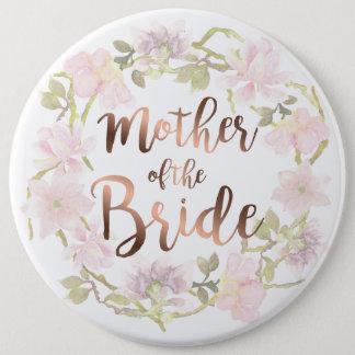 Bóton Redondo 15.24cm Mãe do botão floral da noiva