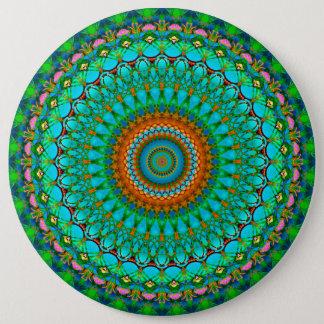 Bóton Redondo 15.24cm Mandala geométrica G388 do botão