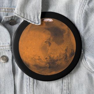 Bóton Redondo 15.24cm Marte o planeta vermelho no jumbo do espaço