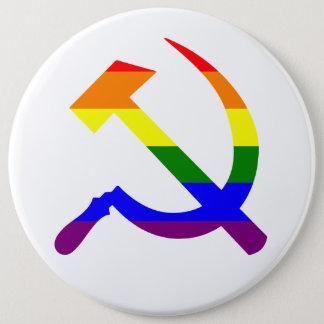 Bóton Redondo 15.24cm Martelo e foice soviéticos do arco-íris