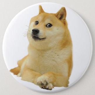 Bóton Redondo 15.24cm meme do doge - doge cão-bonito do doge-shibe-doge