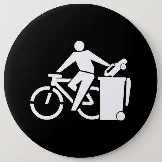 Bóton Redondo 15.24cm Monte uma bicicleta não um carro