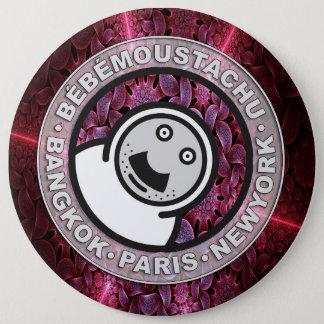 Bóton Redondo 15.24cm moustatchu de le bébé - botão - 002