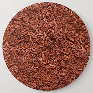 Bóton Redondo 15.24cm mulch detalhado do cedro vermelho para o