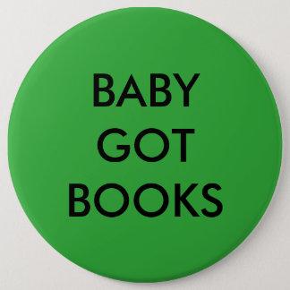 Bóton Redondo 15.24cm O bebê obteve o botão dos livros