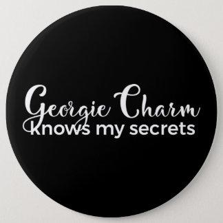 Bóton Redondo 15.24cm O encanto de Georgie sabe meu botão colossal dos