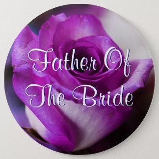 Bóton Redondo 15.24cm O pai roxo da noiva aumentou