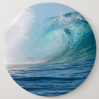 Bóton Redondo 15.24cm Onda grande do Oceano Pacífico que quebra o botão