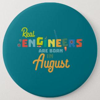 Bóton Redondo 15.24cm Os engenheiros são em agosto Z479b nascidos