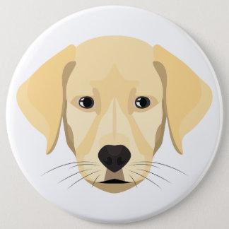 Bóton Redondo 15.24cm Ouro Retriver do filhote de cachorro da ilustração