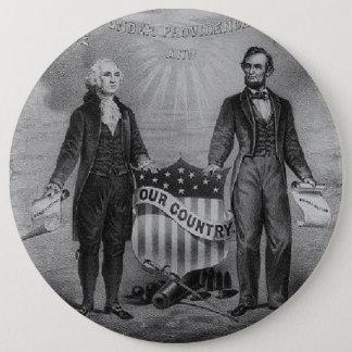 Bóton Redondo 15.24cm Patriotas EUA de George Washington Abraham Lincoln