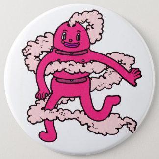 Bóton Redondo 15.24cm Pin cor-de-rosa assustador da cara