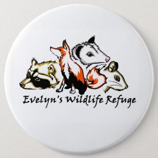Bóton Redondo 15.24cm Pin do salvamento dos animais selvagens