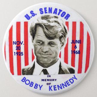Bóton Redondo 15.24cm Pinback do memorial de Bobby Kennedy