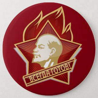 Bóton Redondo 15.24cm Pioneers Pin Button feat. Lenin