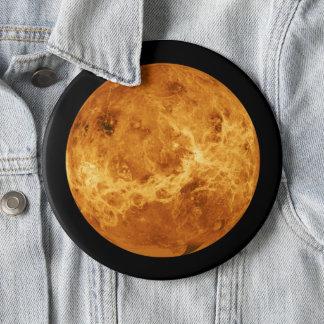 Bóton Redondo 15.24cm Planeta Venus do botão do jumbo do espaço