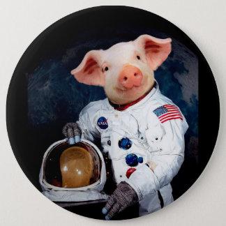 Bóton Redondo 15.24cm Porco do astronauta - astronauta do espaço