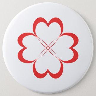 Bóton Redondo 15.24cm Quatro corações!