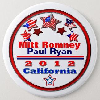 Bóton Redondo 15.24cm Seu candidato Califórnia
