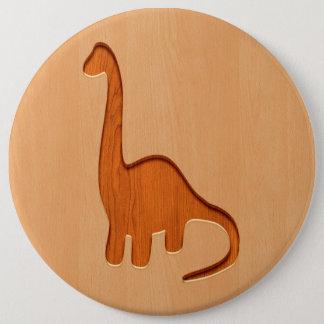 Bóton Redondo 15.24cm Silhueta do dinossauro gravada no design de
