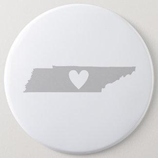 Bóton Redondo 15.24cm Silhueta do estado de Tennessee do coração
