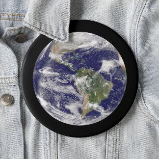 Bóton Redondo 15.24cm Terra enorme do planeta da fotografia do espaço