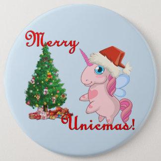 Bóton Redondo 15.24cm Unicmas alegre (Feliz Natal através da maneira do