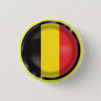 Bóton Redondo 2.54cm A bandeira abstrata de Bélgica, belga colore o