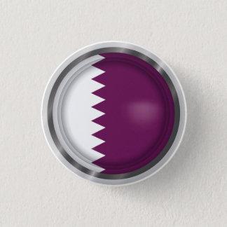 Bóton Redondo 2.54cm A bandeira abstrata de Qatar, Qatari colore o